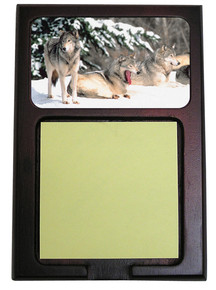 Wolf Wooden Sticky Note Holder