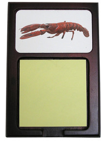 Lobster Wooden Sticky Note Holder