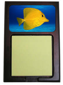 Yellow Tang Wooden Sticky Note Holder