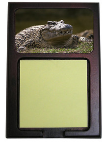 Alligator Wooden Sticky Note Holder