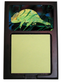 Chameleon Wooden Sticky Note Holder