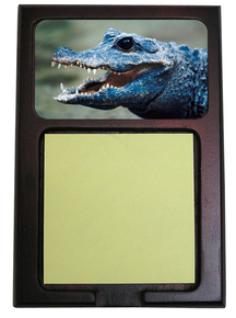 Crocodile Wooden Sticky Note Holder