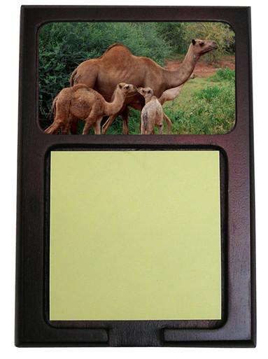 Camel Wooden Sticky Note Holder