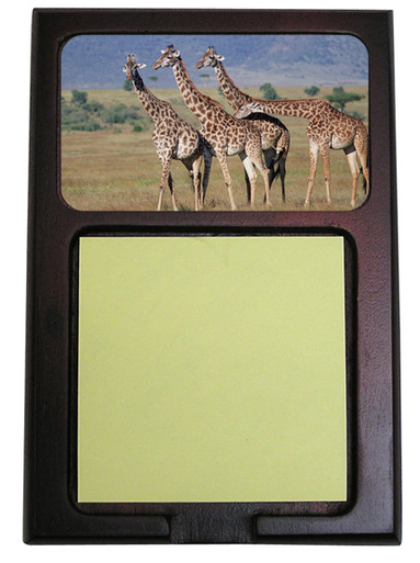 Giraffe Wooden Sticky Note Holder