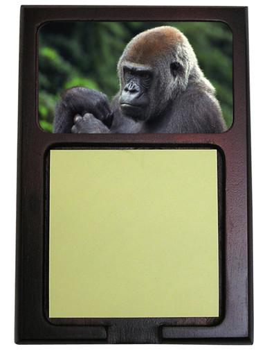 Gorilla Wooden Sticky Note Holder