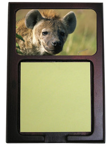 Hyena Wooden Sticky Note Holder