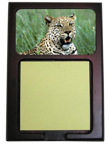 Leopard Wooden Sticky Note Holder