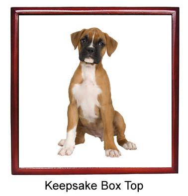 Boxer Keepsake Box