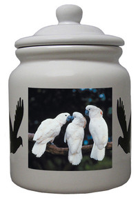 Cockatoo Ceramic Color Cookie Jar