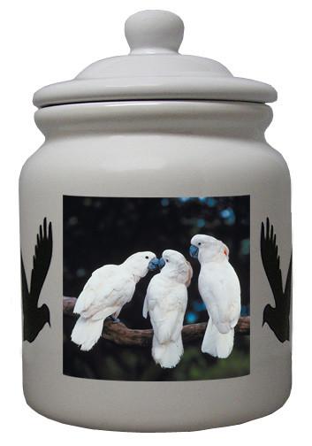 Cockatoo Ceramic Color Cookie Jar