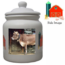 Cow Ceramic Color Cookie Jar