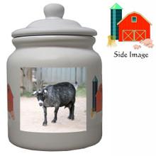 Goat Ceramic Color Cookie Jar