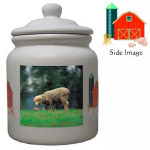 Sheep Ceramic Color Cookie Jar