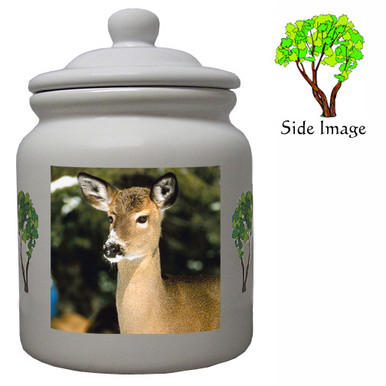 Deer Ceramic Color Cookie Jar