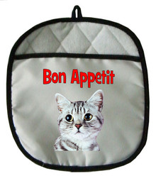 American Shorthair Cat Pot Holder