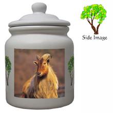 Mountain Goat Ceramic Color Cookie Jar