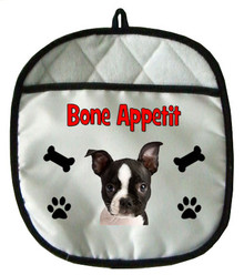 Boston Terrier Pot Holder