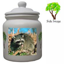 Raccoon Ceramic Color Cookie Jar