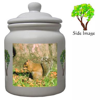 Squirrel Ceramic Color Cookie Jar