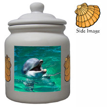 Dolphin Ceramic Color Cookie Jar