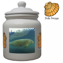 Manatee Ceramic Color Cookie Jar