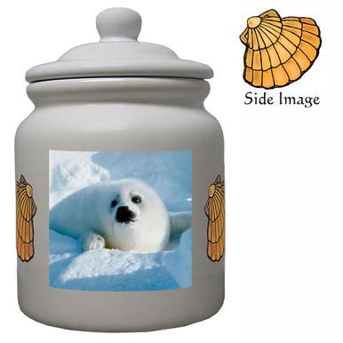 Seal Ceramic Color Cookie Jar
