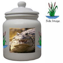 Alligator Ceramic Color Cookie Jar