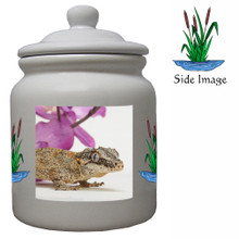 Gecko Ceramic Color Cookie Jar