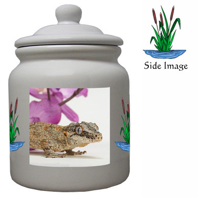 Gecko Ceramic Color Cookie Jar