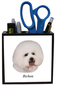 Bichon Wood Pencil Holder