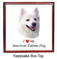 American Eskimo Dog Keepsake Box