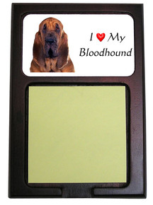 Bloodhound Wooden Sticky Note Holder