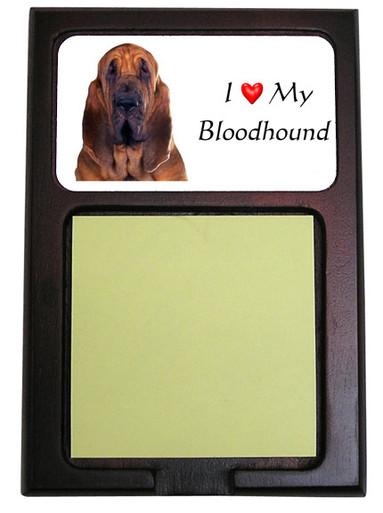 Bloodhound Wooden Sticky Note Holder