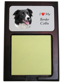 Border Collie Wooden Sticky Note Holder