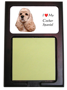 Cocker Spaniel Wooden Sticky Note Holder