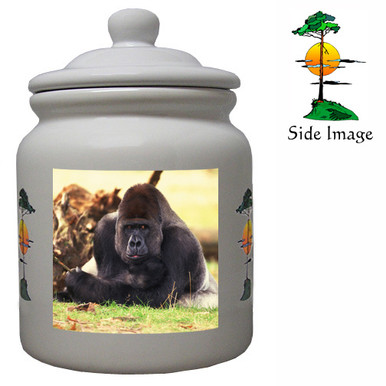 Gorilla Ceramic Color Cookie Jar