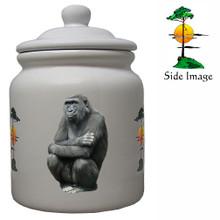 Gorilla Ceramic Color Cookie Jar