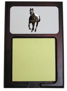 Appaloosa Wooden Sticky Note Holder