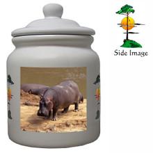 Hippo Ceramic Color Cookie Jar