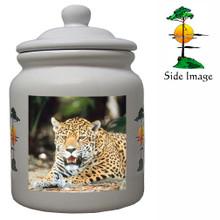 Jaguar Ceramic Color Cookie Jar