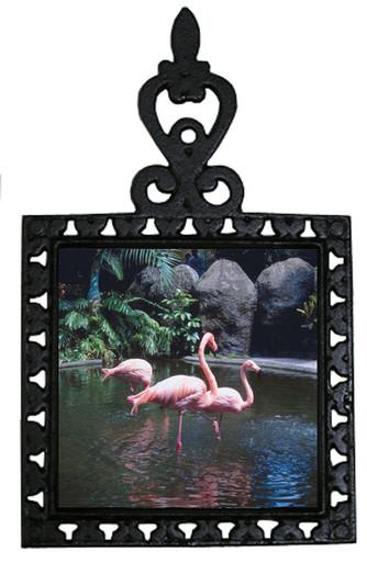 Flamingo Iron Trivet
