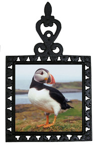 Atlantic Puffin Iron Trivet