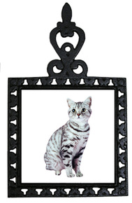American Shorthair Cat Iron Trivet
