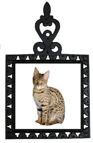 Savannah Cat Iron Trivet