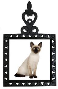 Siamese Cat Iron Trivet