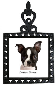 Boston Terrier Iron Trivet