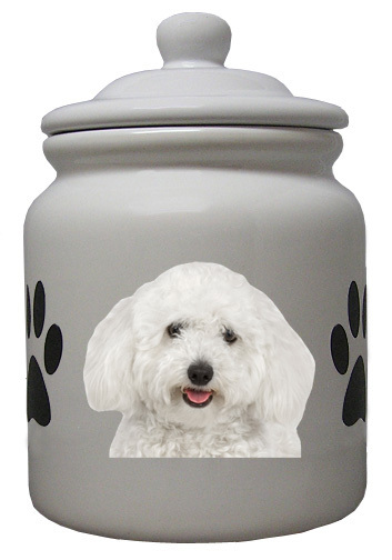 Bichon Ceramic Color Cookie Jar