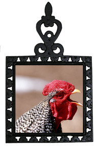 Rooster Iron Trivet