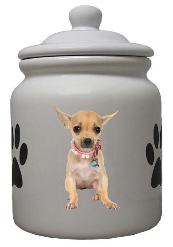 Chihuahua Ceramic Color Cookie Jar