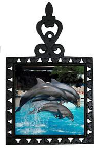 Dolphin Iron Trivet